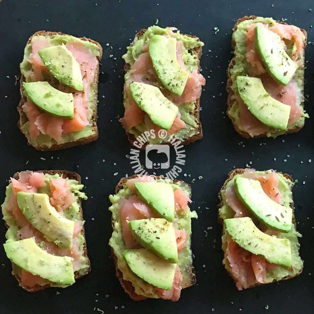 Tartine Avocado e Salmone Affumicato