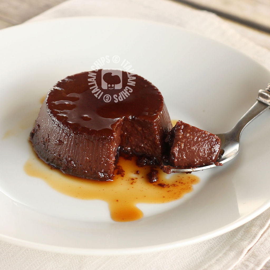 Italian Chocolate Pudding from Piedmont