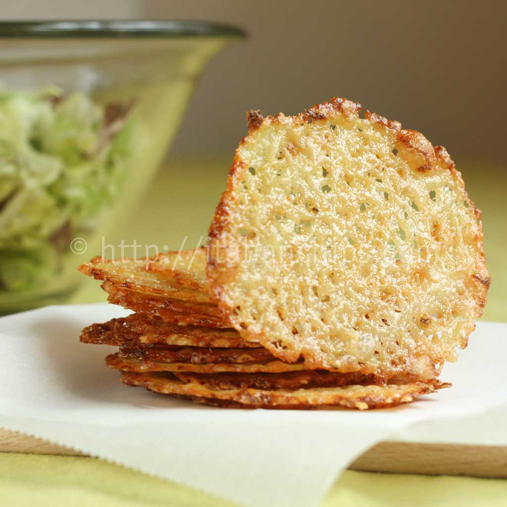 Parmesan Homemade Chips For Salads