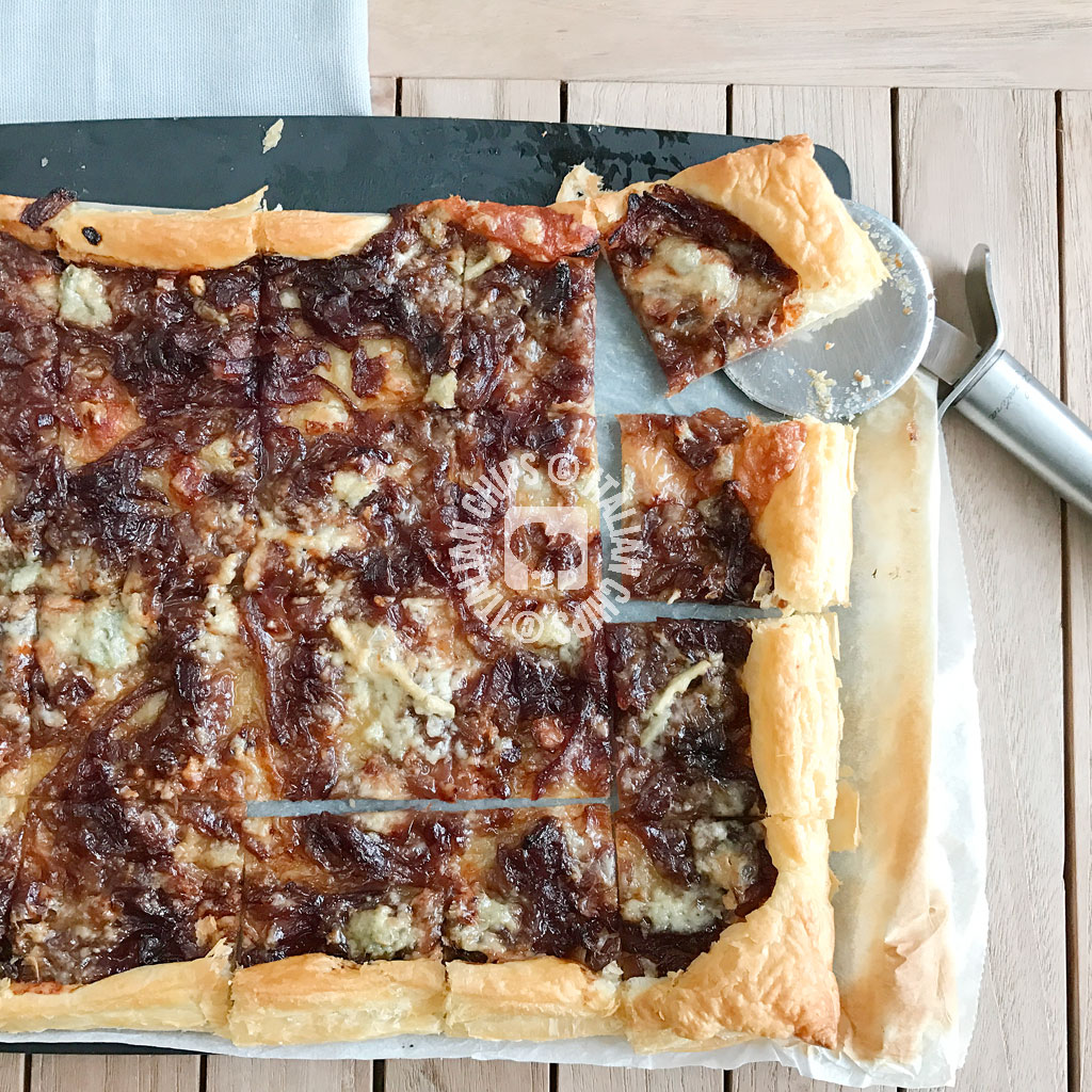 Onion Tart With Gorgonzola