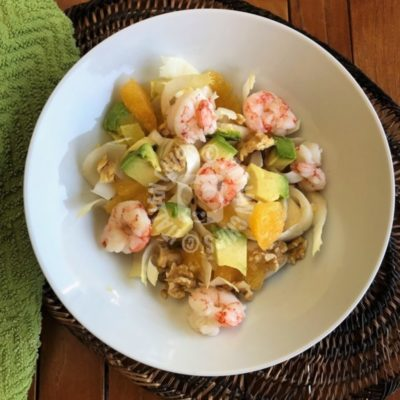 Salad with shrimps and avocado – Emanuela II's recipe