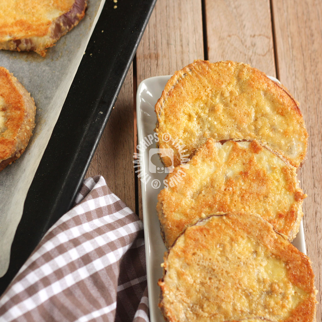 A new eggplant recipe with Parmesan crust