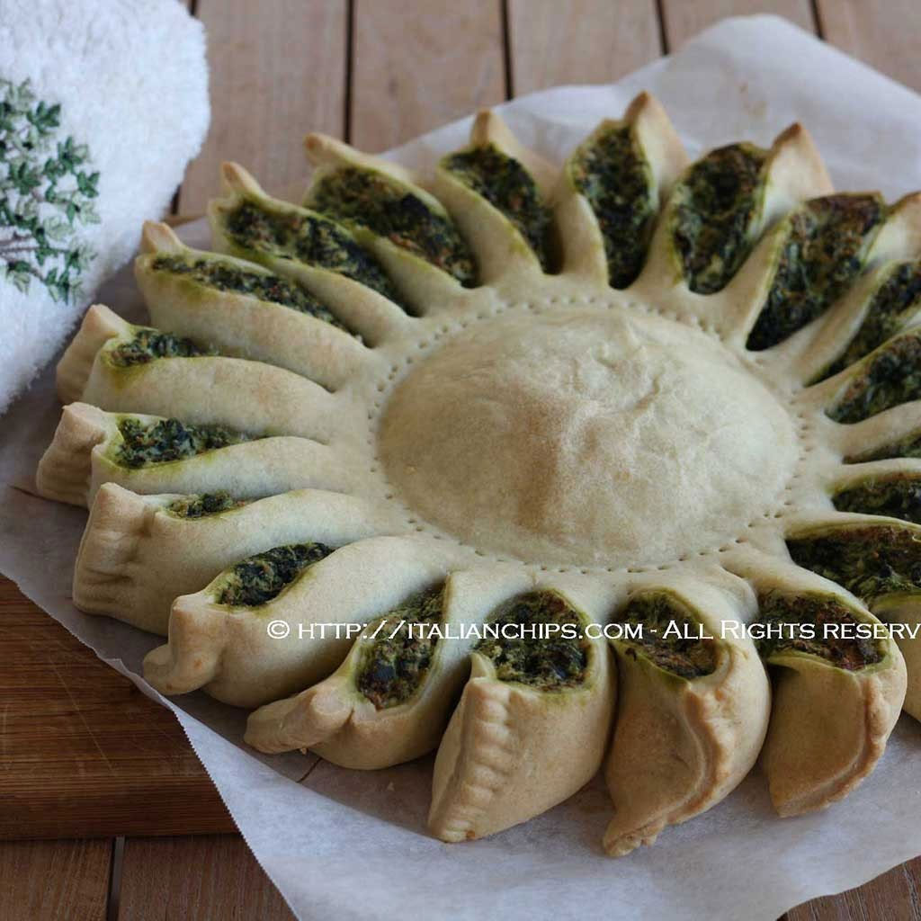 A sunny spinach pie