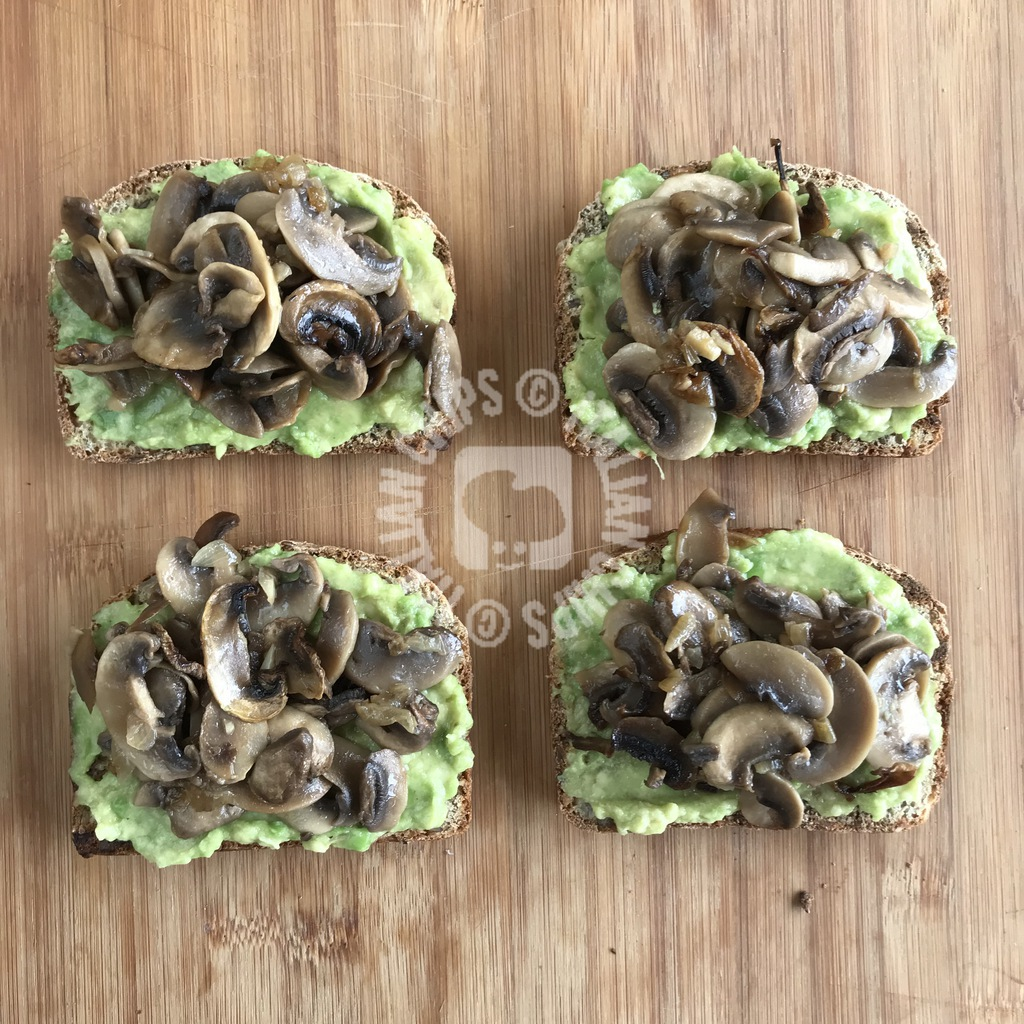mushroom and avocado