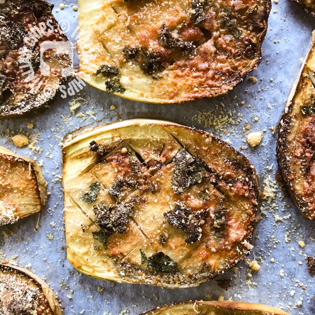 roasted eggplnt with capers