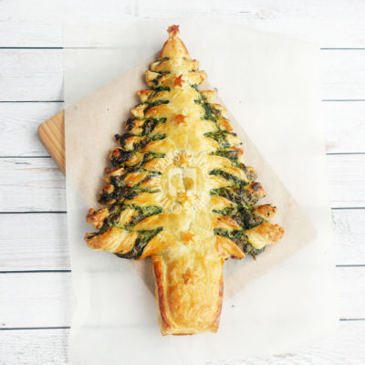 A Christmas spinach tree