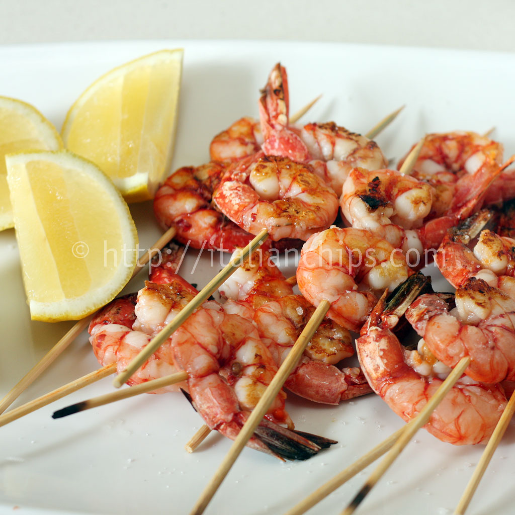 Grilled shrimps, very easy to prepare