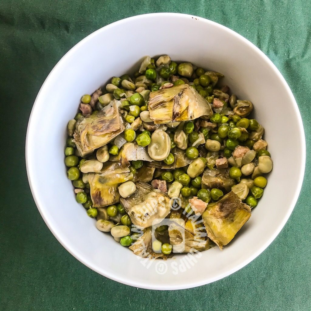 fava beans and peas